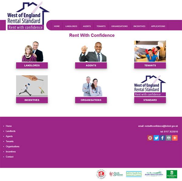 West of England Rental Standard Web Design