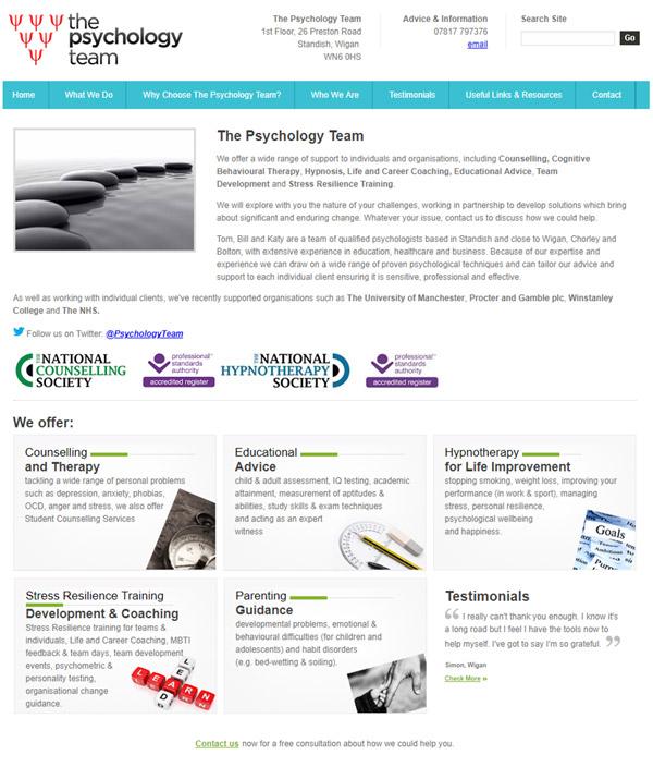 Web Design for a Psychologist Practice